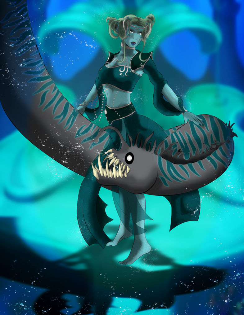 +The Serpentine Goddess of the Ocean+ by MewberryCake