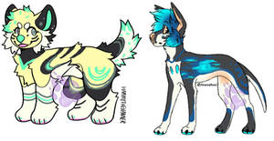 [1/2 Open!] Colorful Pups!