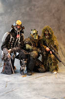 Three warriors by Adalgeuse