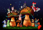 Mushroom Party - September Propmt by Adalgeuse
