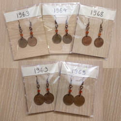 Lucky Finnish Penni Earrings from 1960s