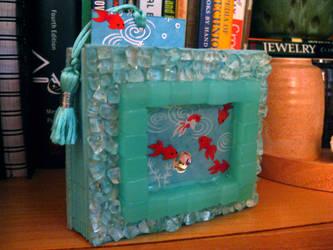 Mini Goldfish Pond Sketchbook by BethCarr