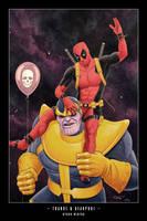 Thanos and Deadpool by ByronWinton