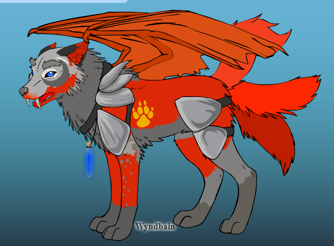 Kovu the Dragon-Wolf by The-Art-Wolf