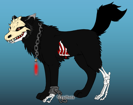 Skeletor the skeletal Wolf by The-Art-Wolf