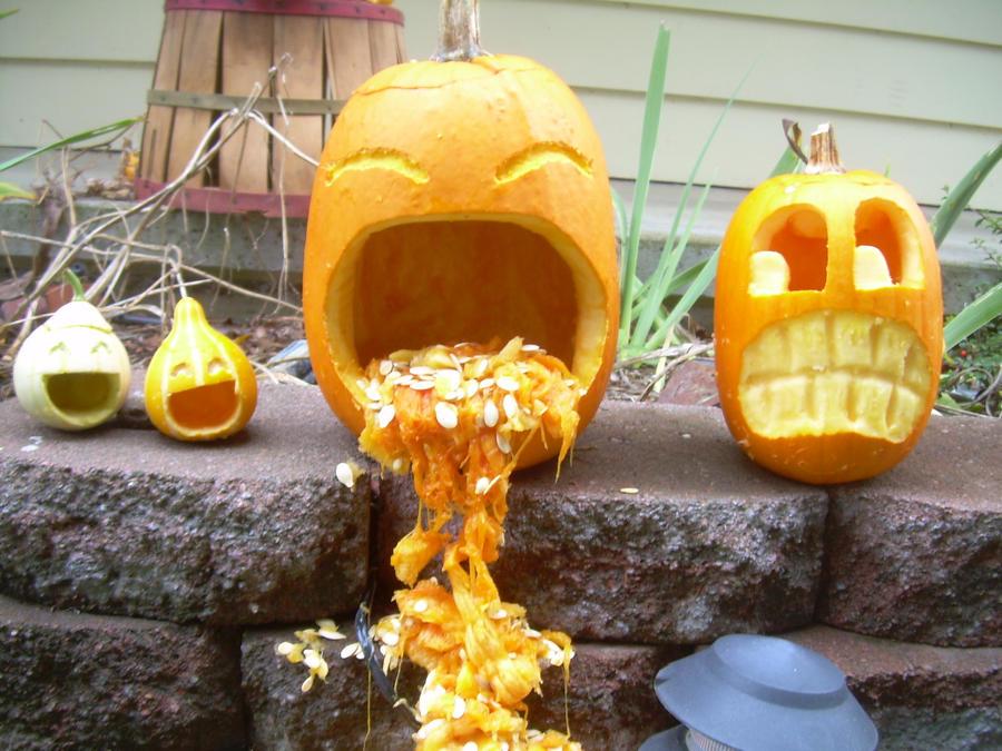 ewww pumpkin insides by octanemonkey