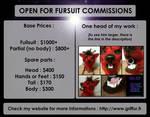 I'M OPEN FOR FURSUIT COMMISSIONS! by Lunaris-FF7