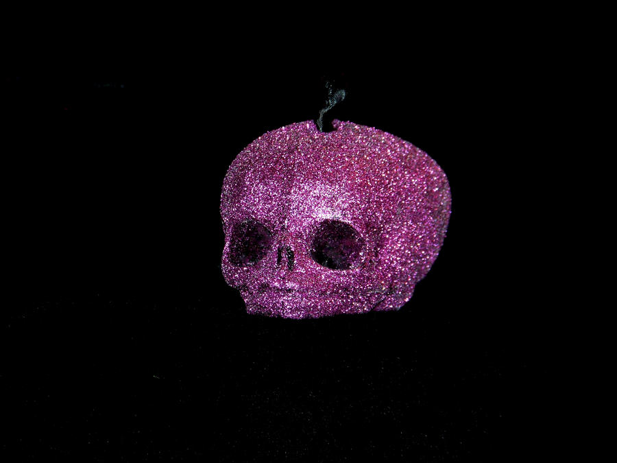 purple glitter skull ornament by thetbgallery on deviantart
