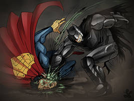 bat vs sups by saadirfan