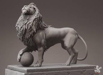Lion Render by saadirfan