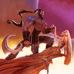 Drogo and the queen by saadirfan