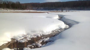 Wetzel Lake in the winter.