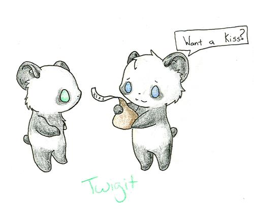 Awesome drawings of cute pandas