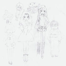 Unfinished Kuragehime Sketch by MyHanKoKo