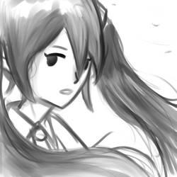Quick paint of Miku by FuryX-4