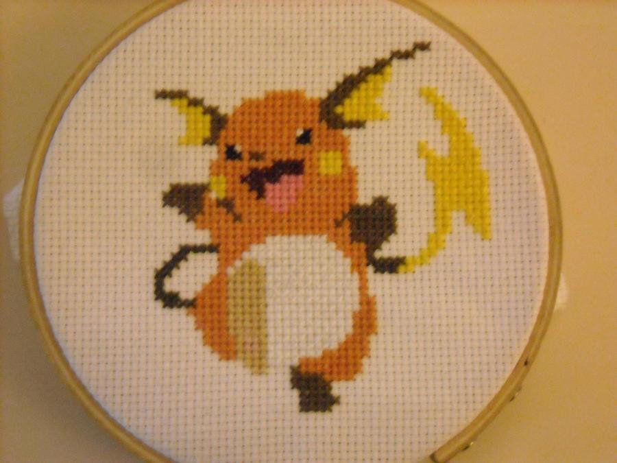 Raichu X Stitch by geek-stitch
