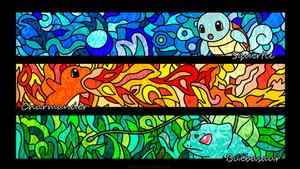Kanto Starters (Wallpaper) by Nari19