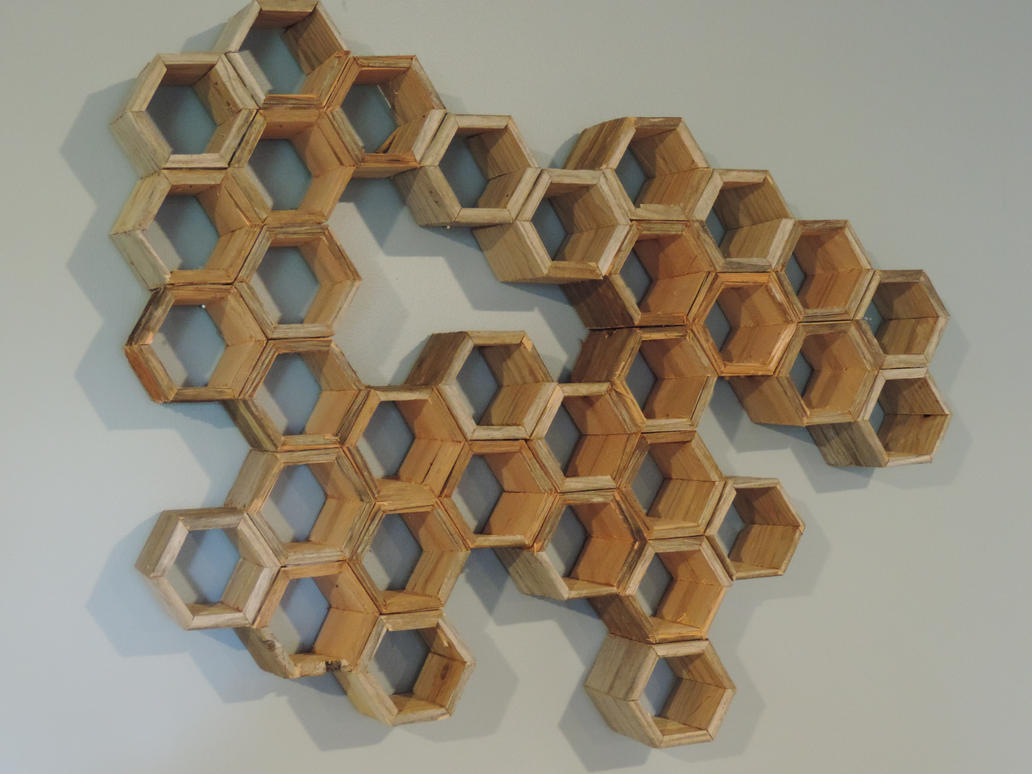 Driftwood Honeycomb Wall Art By PhilRyanWoodworking ...