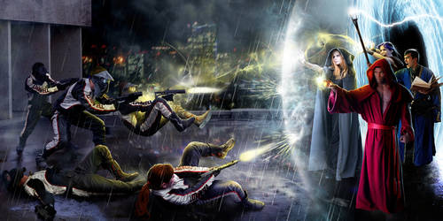 Battle around the Vortex by Drombyb