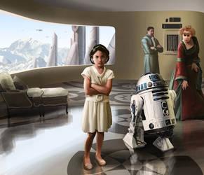 Leia Organa as a child by Drombyb