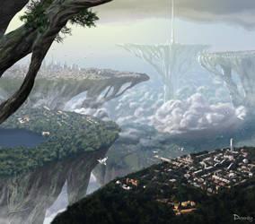 Sky colony by Drombyb