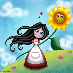 Aime-Moi et le tournesol by Myria-Moon by Myria-Moon
