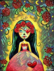 Colette et el dia de los Muertos by Myria-Moon by Myria-Moon