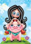 Aime-Moi et Piggy-Chou le petit cochon