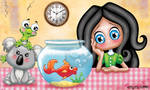 Mon petit poisson rouge by Myria-Moon by Myria-Moon