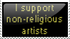 I support nr artists by Draci-Be