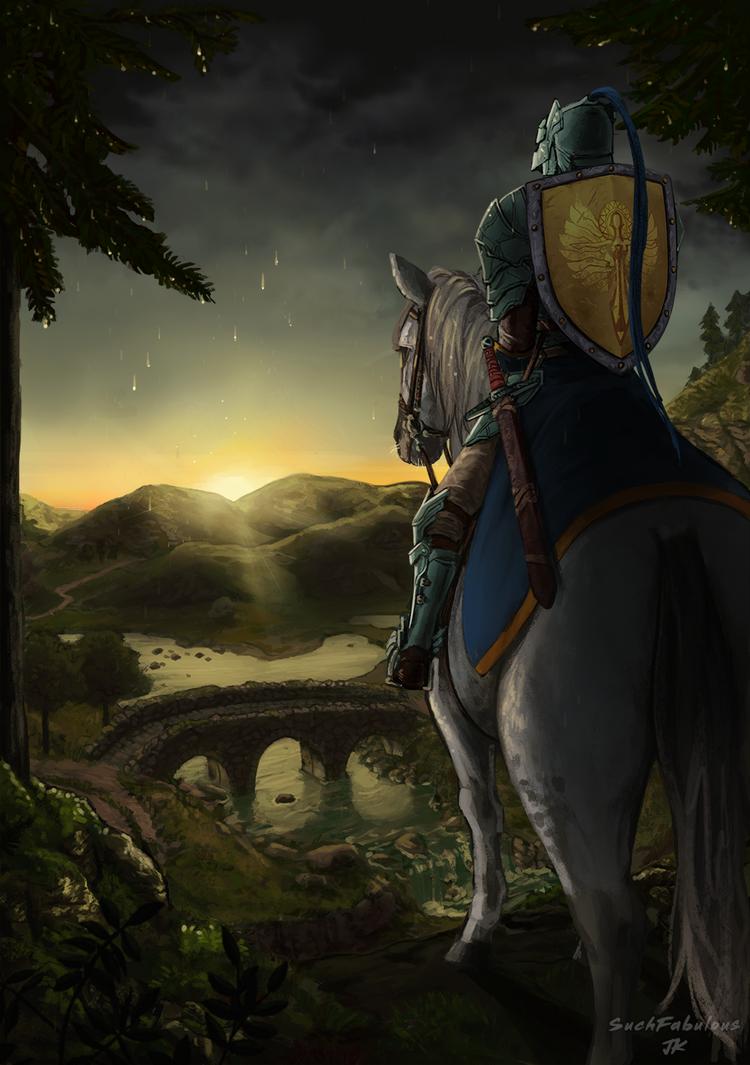 Highland Sunset by NinjaPandaDesu