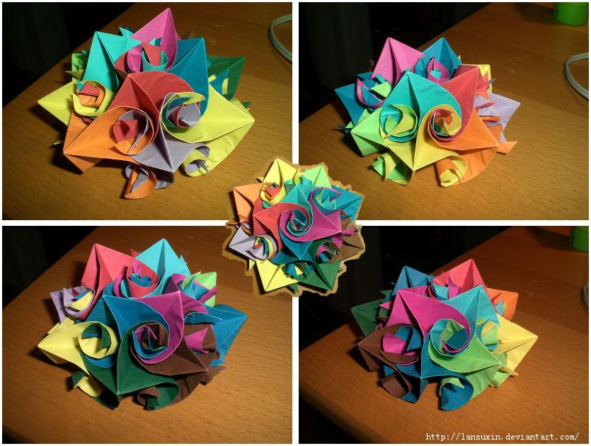 Origami flower by lansuxin on deviantart origami flower by lansuxin mightylinksfo Choice Image