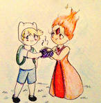 Flame Princess and Finn Chibi