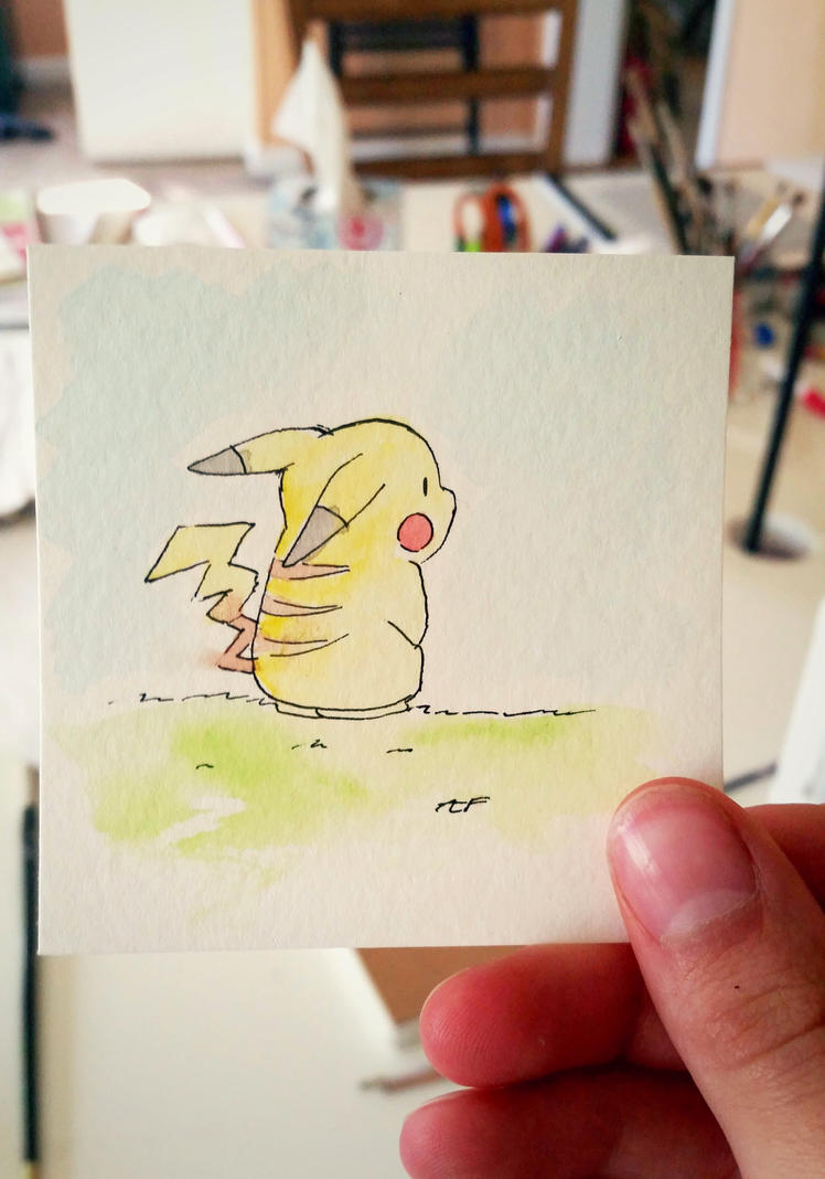 Little Pikachu: Watercolor #25 by AddyinWonderland