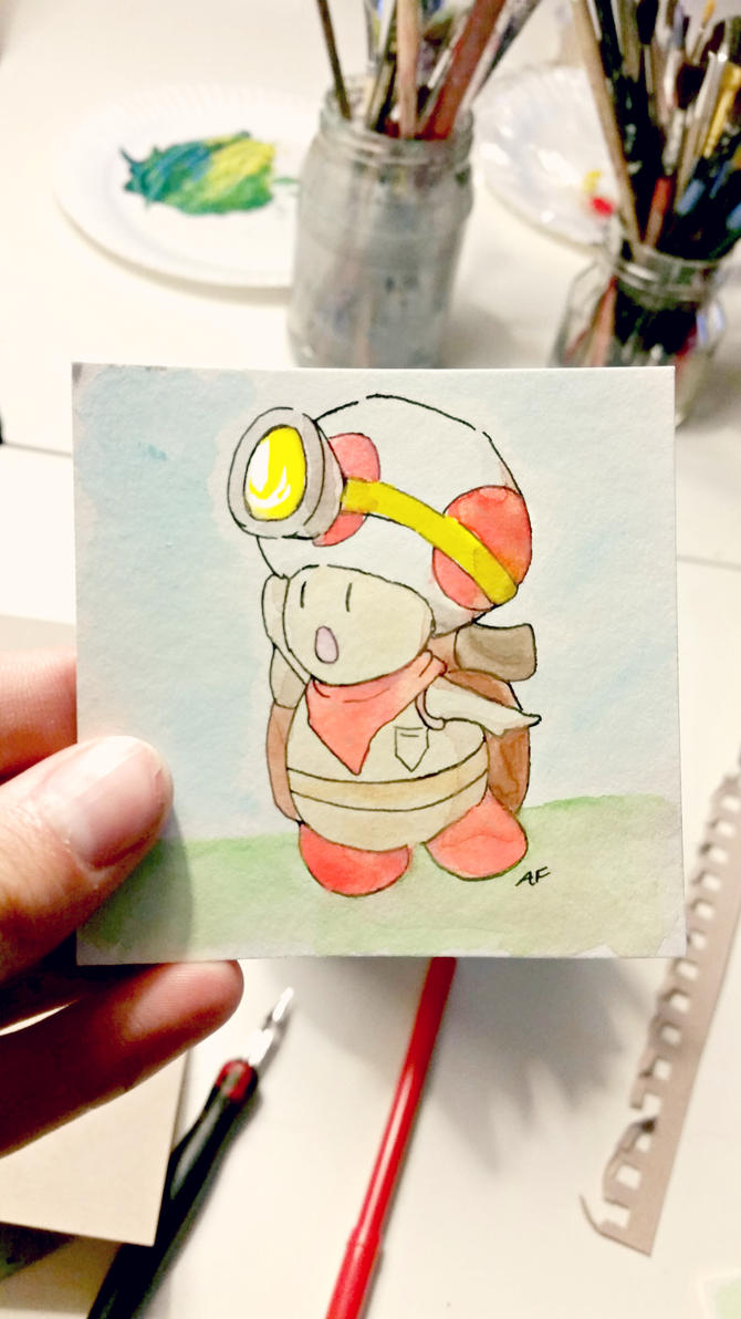 Little Captain Toad: Watercolor by AddyinWonderland