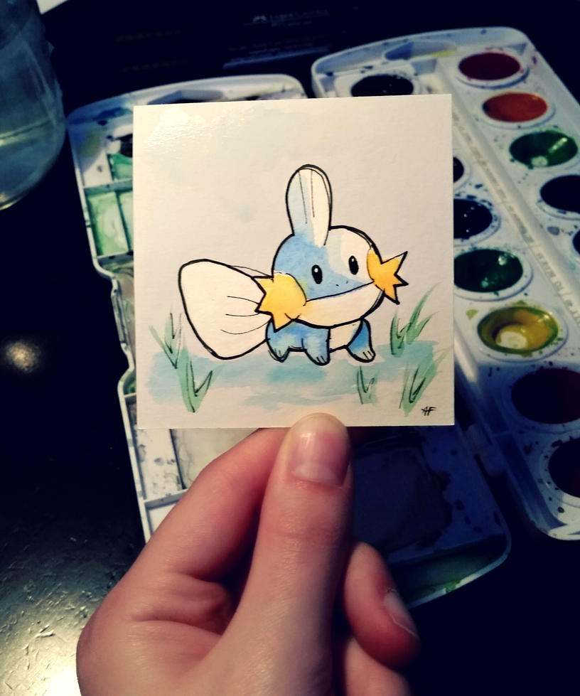 Little Mudkip #258 by AddyinWonderland