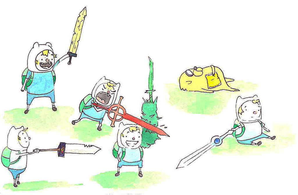 Adventure Time Swords by AddyinWonderland