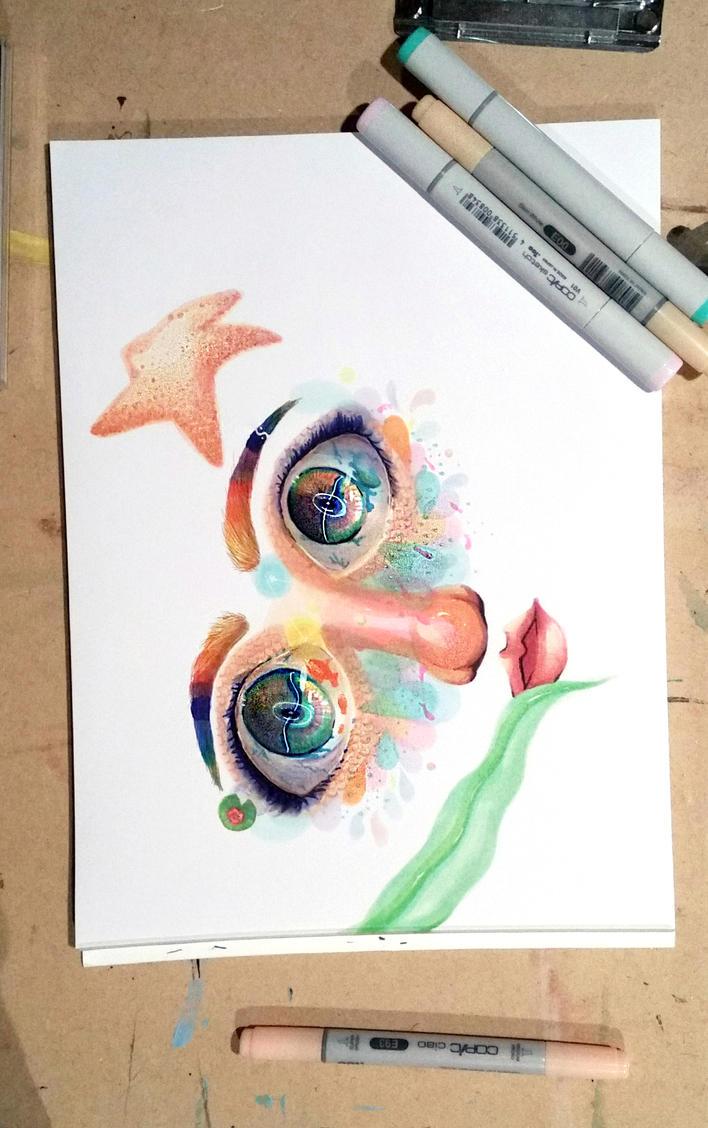 Fish Eyes by AddyinWonderland