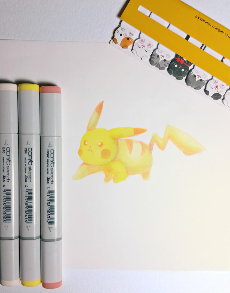 Pikachu Pink and Yellow by AddyinWonderland