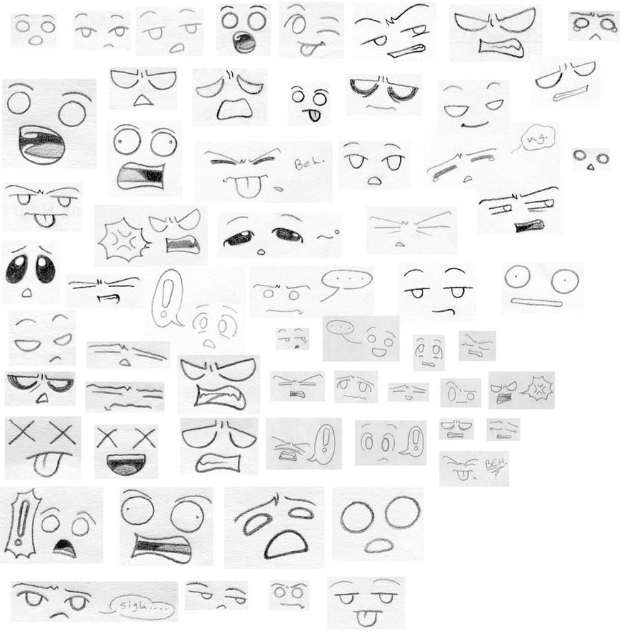 Funny Faces Drawings Funny Faces 2 by Manga Kat
