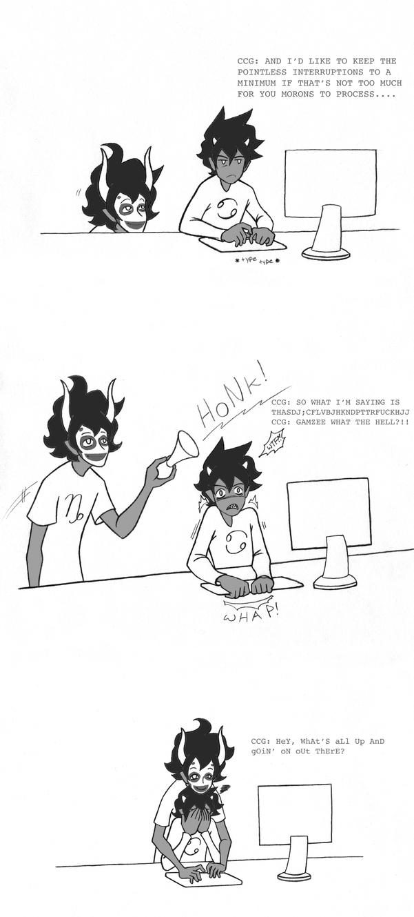 Karkat: Begin a new memo. by manga-kat