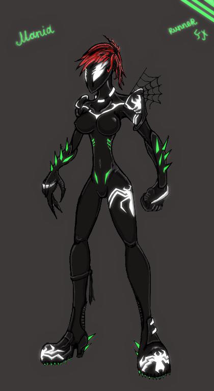 Mania symbiote redesign by predalien27 on DeviantArt