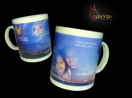 Blue Sunset Couple Mug