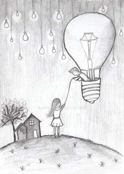 Little Girl and DreamLamps
