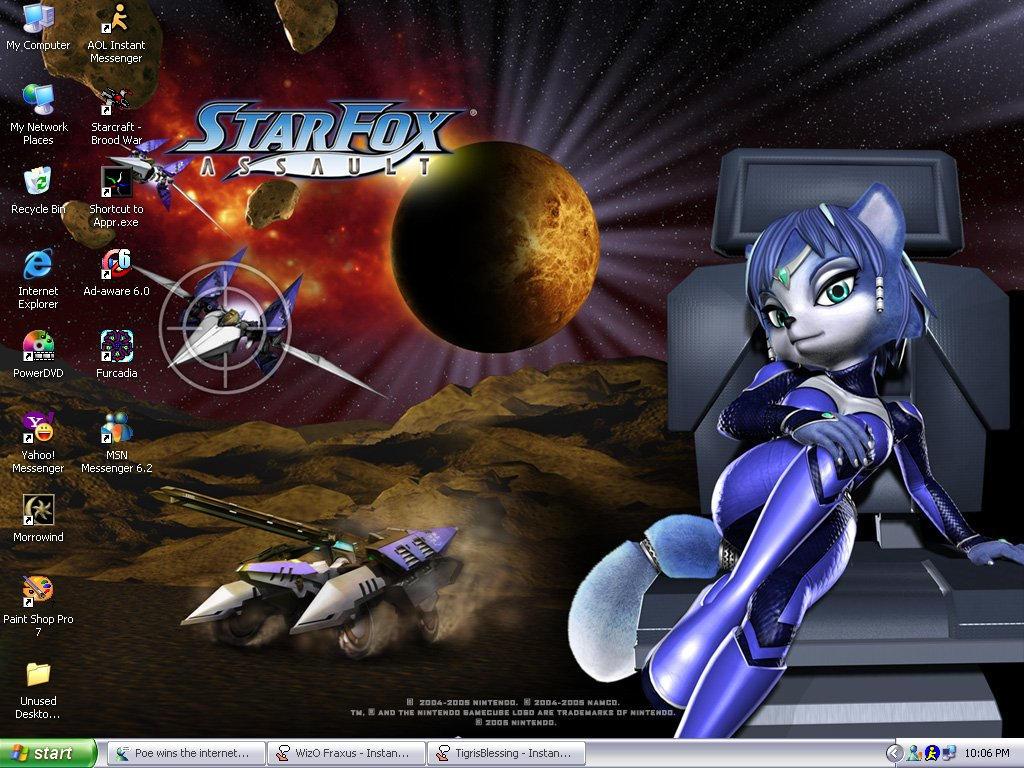 Current Desktop: Starfox Fan