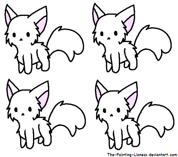 free to use kitty adoptables base by little painter on
