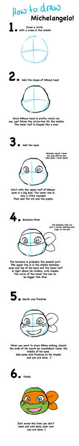 how to draw Mikey