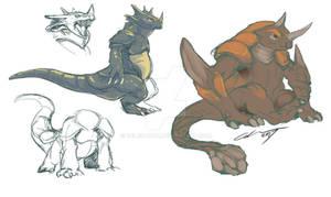 Rhydon and Rhyperior sketch