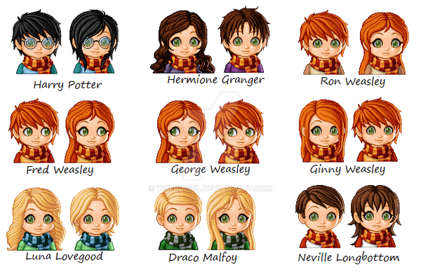 Harry Potter Characters As Anime