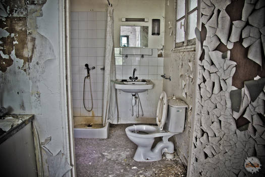 Decayed bathroom
